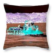 Whirlpool Jet Boat Niagara Falls Inverted Throw Pillow