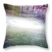 Whirlpool Of Water Suds Throw Pillow