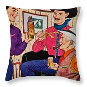 Whiskey Advertisement Throw Pillow