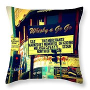 Whisky A Go Go Bar On Sunset Boulevard Throw Pillow