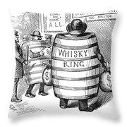 Whisky Ring Cartoon, 1875 Throw Pillow