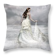 Whispered Waves Throw Pillow