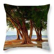 Whispering Trees Of Sanibel Throw Pillow