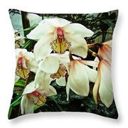 Whispers In The Greenhouse Throw Pillow