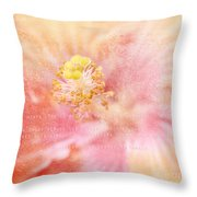 Whispers To My Heart Throw Pillow