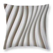 White Artistic Background Throw Pillow