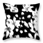 White Bouquet  Throw Pillow