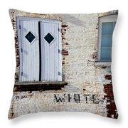White Brick Throw Pillow