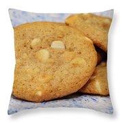 White Chocolate Chip Cookies Throw Pillow