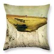 White Cliffs Lighthouse Throw Pillow