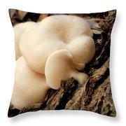 White Cloud Mushrooms Throw Pillow