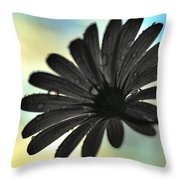 White Daisy Silhouette Throw Pillow