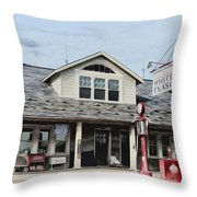 White Flash Gasoline Throw Pillow
