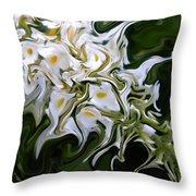 White Flowers 2 Throw Pillow