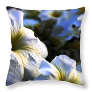White Flowers At Dusk 2 Throw Pillow