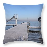 White Frost Slide Throw Pillow
