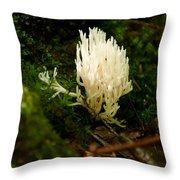 White Fungus Throw Pillow