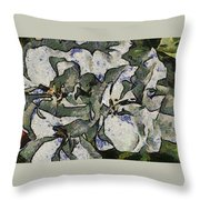 White Geraniums   -- Vangogh Throw Pillow