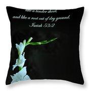 White Gladiola Isaiah 58 2 Throw Pillow