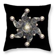 White Gold And Pearls Throw Pillow by Hakon Soreide