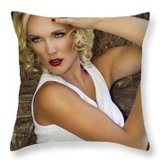 White Hot 2 Palm Springs Throw Pillow