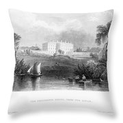 White House, 1839 Throw Pillow