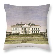 White House, D.c., 1820 Throw Pillow