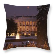 White House, From Elipse At Christmas Throw Pillow