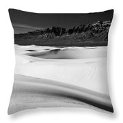 White In White Sands Throw Pillow