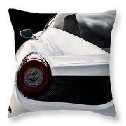 White Italia Throw Pillow