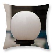 White Lamp With Some Rain Drops Still Clinging On It Throw Pillow