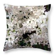 White Lilacs Throw Pillow