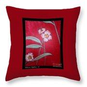 White Lotus Bottom  Throw Pillow