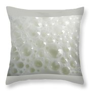 White Milk Bubbles Throw Pillow