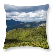 White Mountains New Hampshire Panorama Throw Pillow by Stephanie McDowell