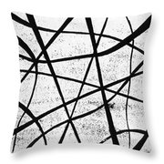 White On Black Throw Pillow