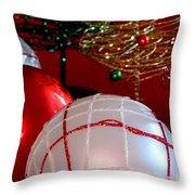 White On Red Throw Pillow