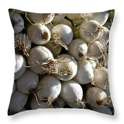 White Onions Throw Pillow