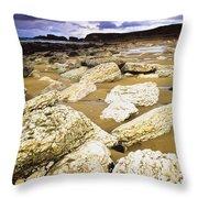 White Park Bay, County Antrim, Ireland Throw Pillow