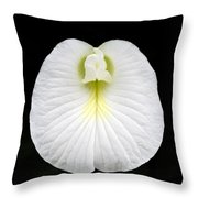 White Pearl Flower Throw Pillow