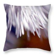 White Petals Throw Pillow