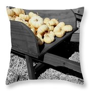White Pumpkin Harvest Throw Pillow