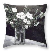 White Ramblers  Throw Pillow