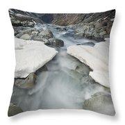 White River Rapids Arthurs Pass Np Throw Pillow