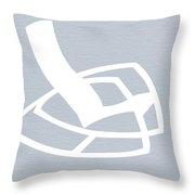 White Rocking Chair Throw Pillow by Naxart Studio
