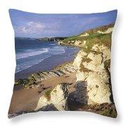 White Rocks Beach, Between Portrush & Throw Pillow