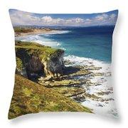 White Rocks, Portrush, Co Antrim Throw Pillow