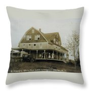 White Roe Boarding House-owner E Keene Prior To My Grandfather. Circ 1900s Throw Pillow