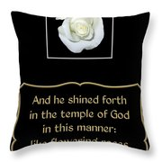 White Rose With Bible Verse From Sirach Throw Pillow