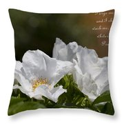 White Roses - Purge Me With Hyssop Throw Pillow